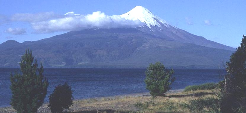 Osorno volcano in Andes of Chile
