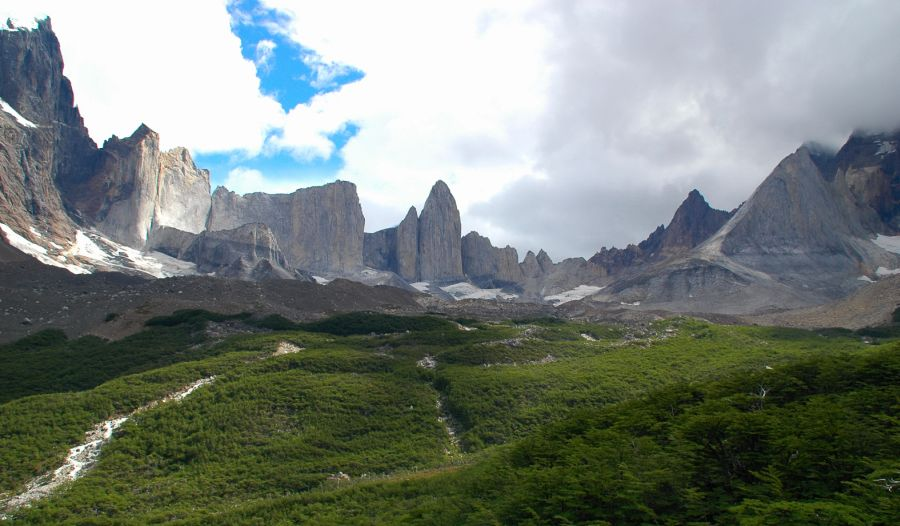 French Valley in Torres del Paine National Park in the Patagonia Region of Chile, South America