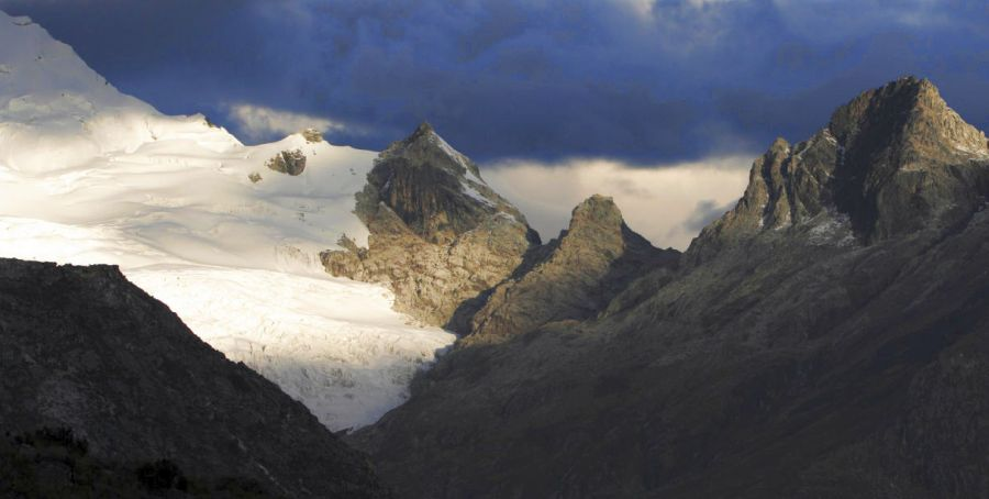 Yanapaccha Glacier in the Cordillera Blanca