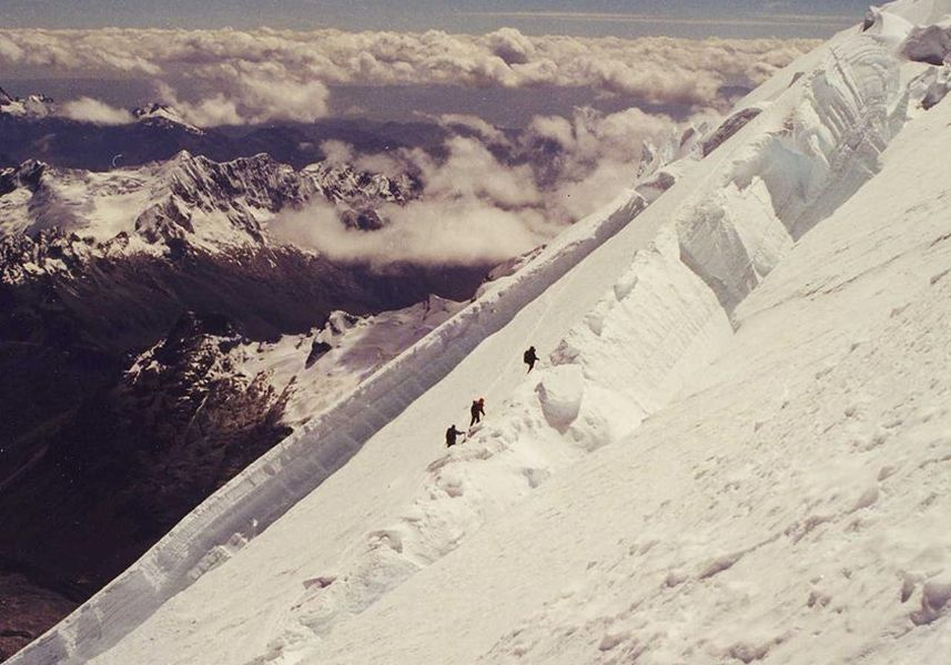 Ascent of Huascaran in the Cordillera Blanca of the Andes of Peru