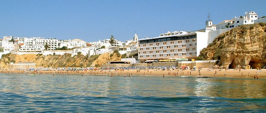 Waterfront at Albufeira in The Algarve in Southern Portugal