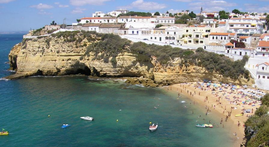 Carvoeiro in The Algarve in Southern Portugal