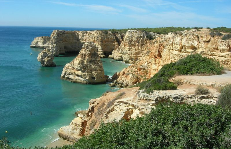 Praia da Marinha in The Algarve in Southern Portugal