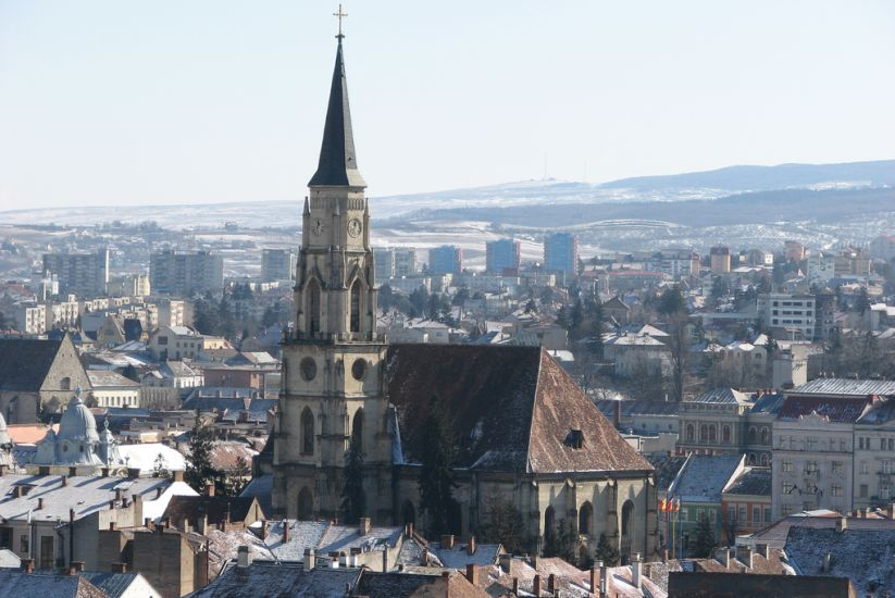 City Centre of Cluj Napoca in Romania