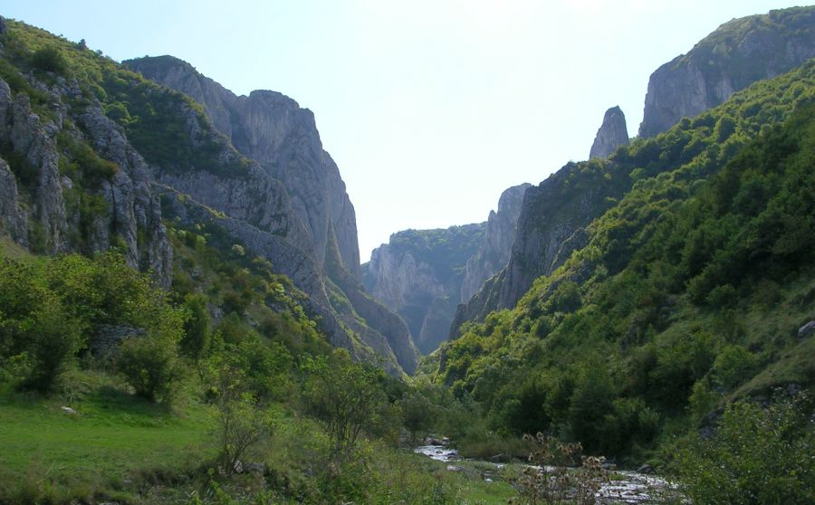 Turda Gorges (Cheile Turzii ) in the Southern Carpathians of Romania