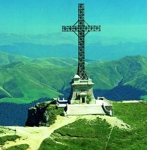Heroes Cross on Caraiman Peak in the Bucegi Mountains of Romania