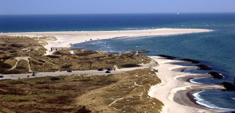Beach at Skagen Point in Denmark