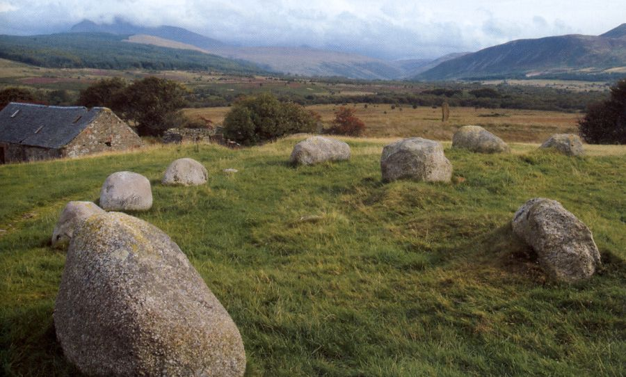 Stone Circle at Machrie Moor on the Isle of Arran off the West Coast of Scotland