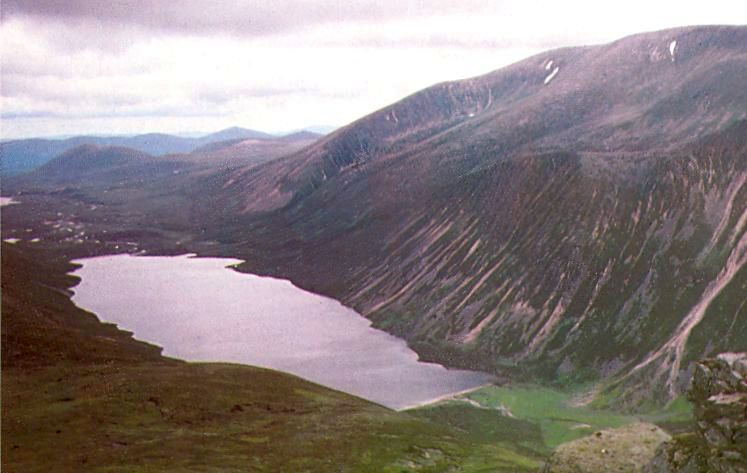 Loch Einich from the Cairngorm Plateau