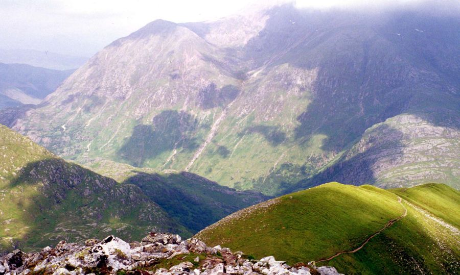 Glen Nevis from An Gearanach in the Mamores above Glen Nevis