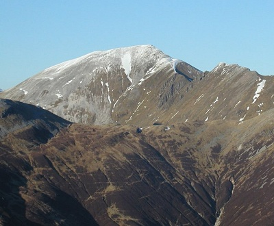 Sgurr a'Mhaim in the Mamores above Glen Nevis