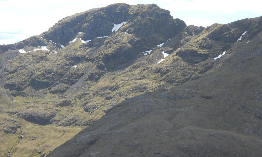 The Chancellor at the eastern end of the Aonach Eagach Ridge in Glencoe