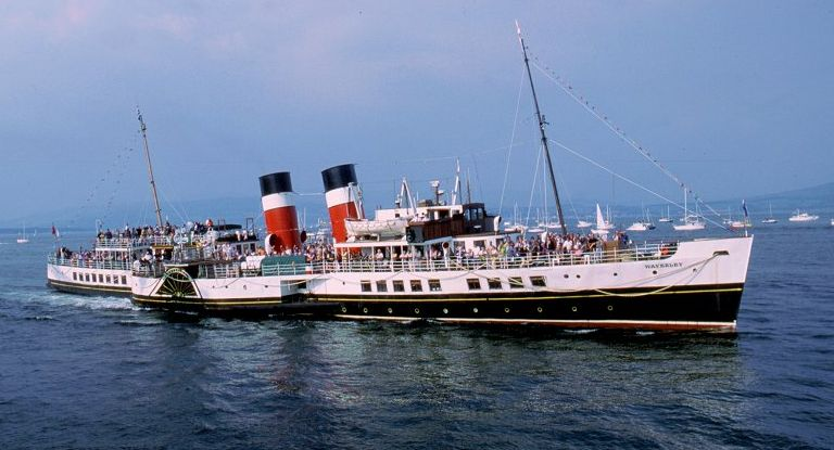 Photographs Of The Waverley Steam Paddle Boat On Firth Clyde