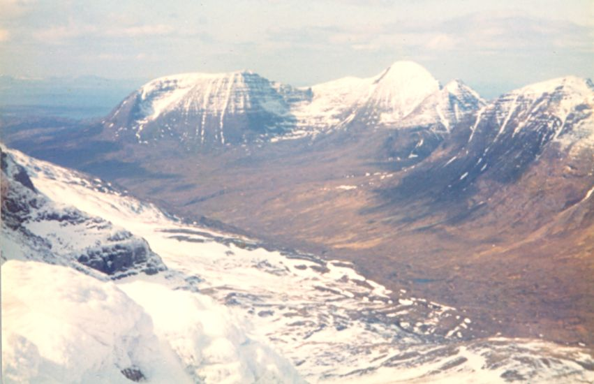 Beinn Alligin from Liathach in the Torridon region of the NW Highlands of Scotland