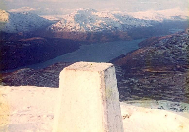 Loch Torridon from Summit Cairn on Liathach in the Torridon Region of the NW Highlands of Scotland