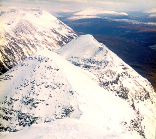 Ridge in winter on Liathach in the Torridon Region of the NW Highlands of Scotland
