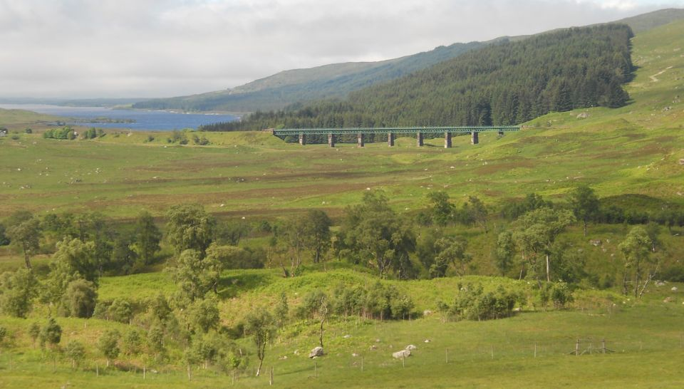 Loch Laidon and railway viaduct at Rannoch