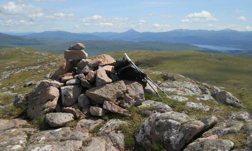 Schiehallion from summit of Meall na Meoig