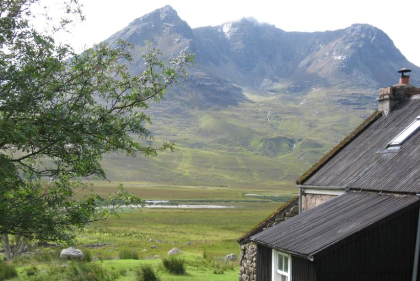 Beinn Dearg Mor from Sheneval Bothy in Torridon Region