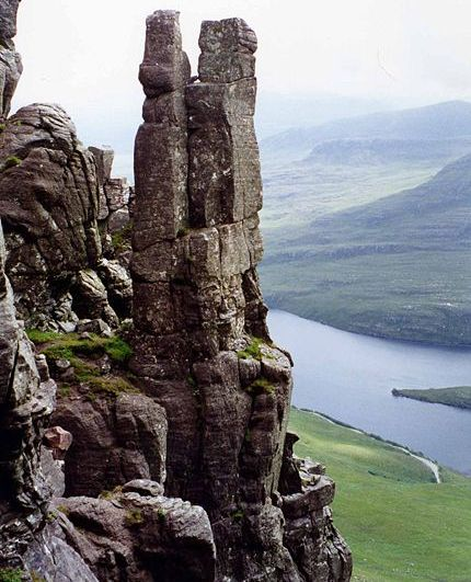 Lobster Claw on Stac Pollaidh in Wester Ross in the NW Highlands of Scotland
