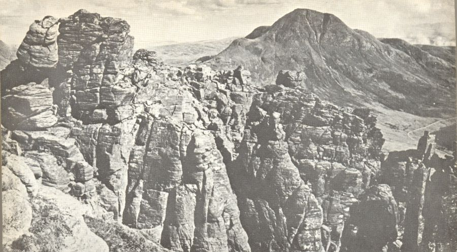Cul Beag from Stac Pollaidh in Wester Ross in the NW Highlands of Scotland