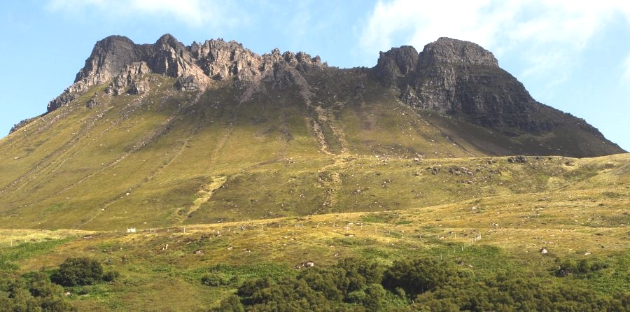 Stac Pollaidh in Wester Ross in the NW Highlands of Scotland