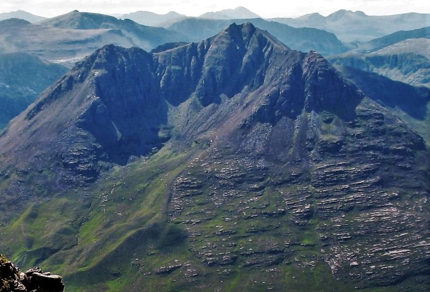 Beinn Dearg Mor from An Teallach in Torridon Region