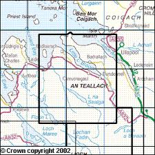 OS Map for An Teallach