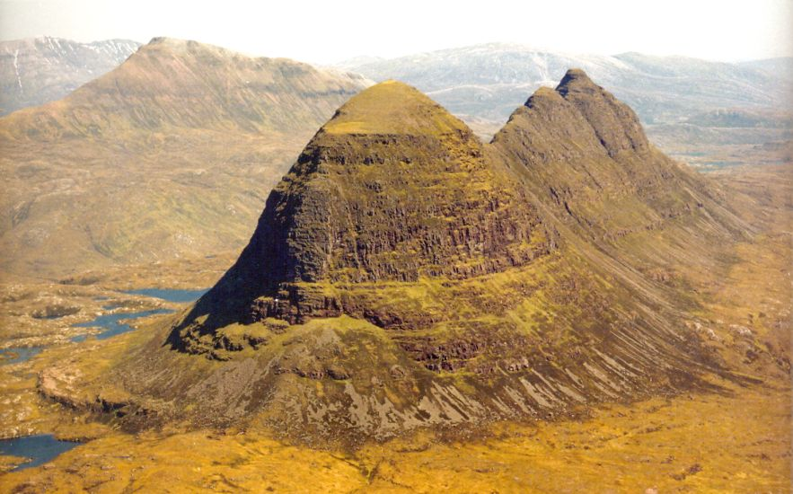 Canisp and Suilven in the NW Highlands of Scotland