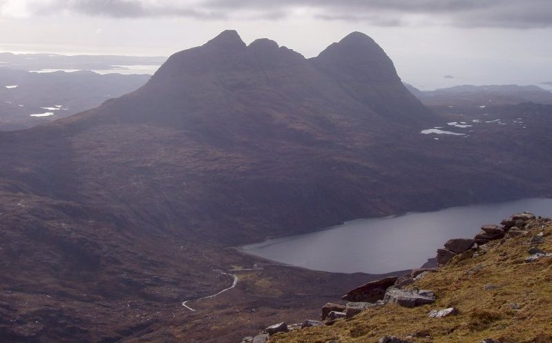 Suilven above Loch na Gainimh in the NW Highlands of Scotland