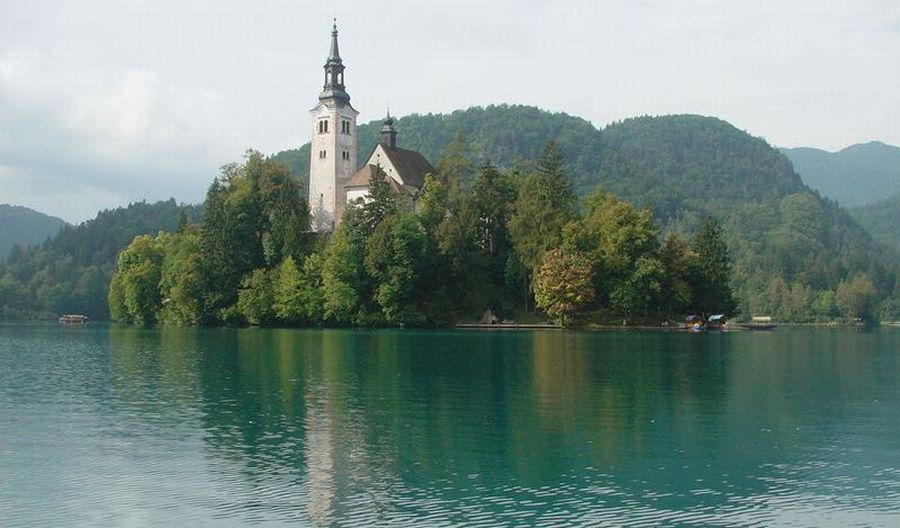 Church on Lake Bled Island