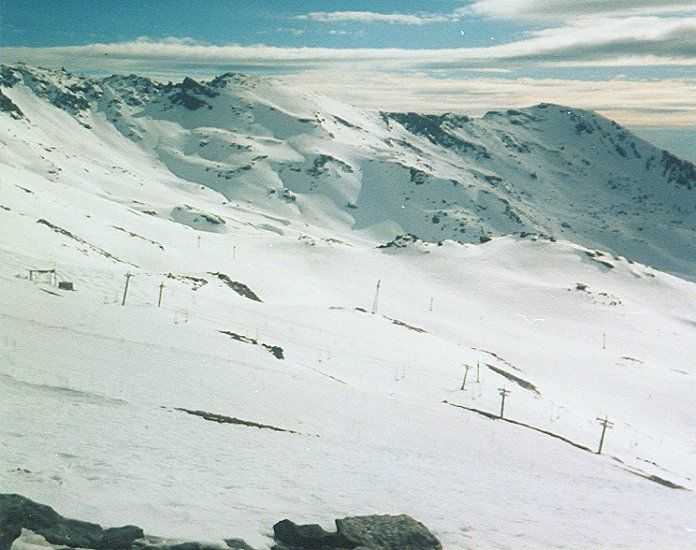 Ski Slopes at Solynieve in the Sierra Nevada in Southern Spain