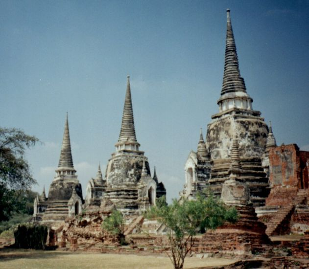 Chedi at Ayutthaya
