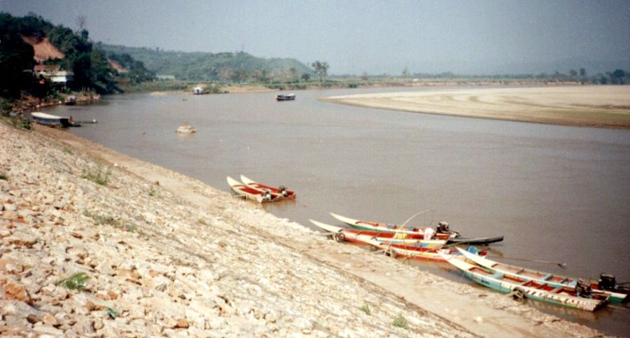 Maekong River frontier with Laos at Chiang Saen
