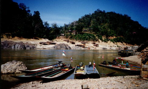 Salawin river frontier with Burma