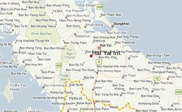 Photographs and map of the City of Hat Yai