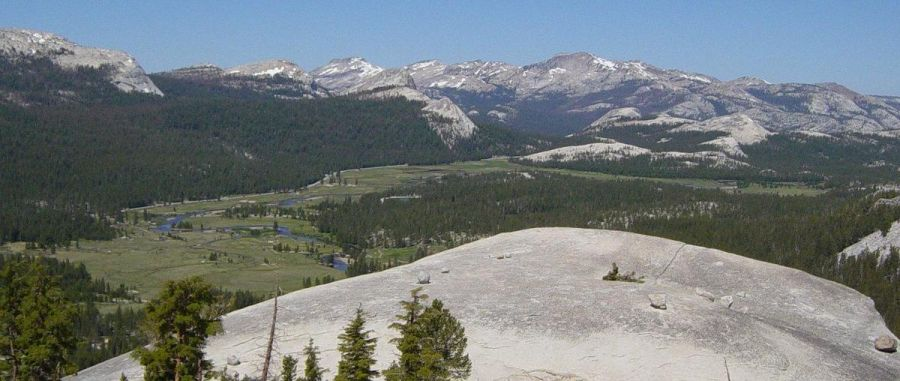 Pacific Crest Trail - Tuolumne Meadows in Yosemite National Park