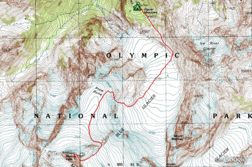 Photographs And Maps Of Mount Olympus In Washington State USA - Olympus map