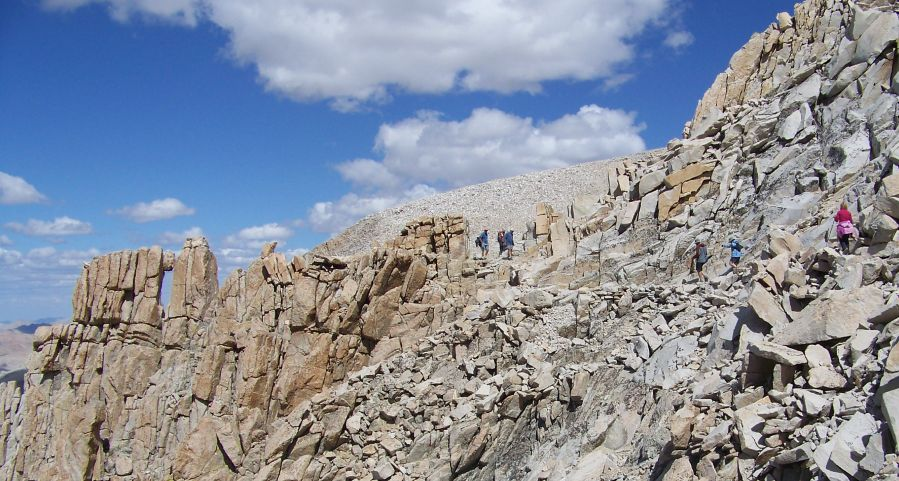 John Muir Trail approach to the Crest of the Sierra Nevada