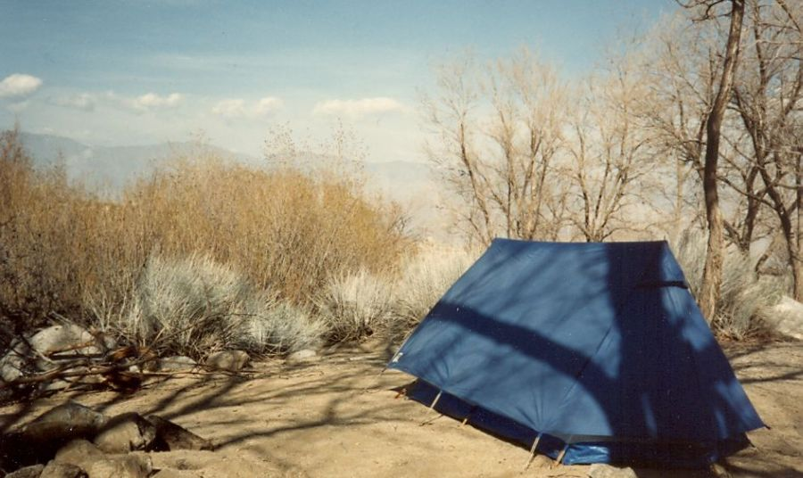 Campsite for Mount Whitney above Lone Pine in Owens Valley