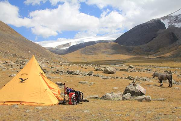 Campsite in the Altai Mountains