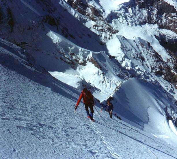 Ascending the South West Flank of the Eiger