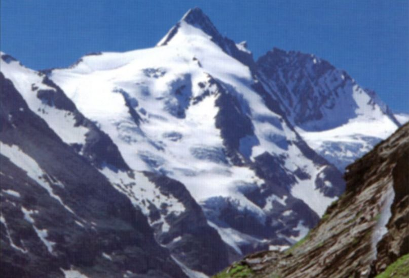Gross Glockner 3798m in the Austrian Tyrol - the highest peak in Austria