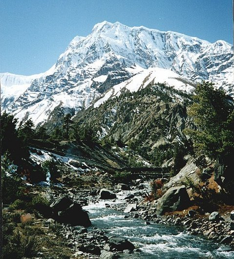 Mount Annapurna III from Manang Valley