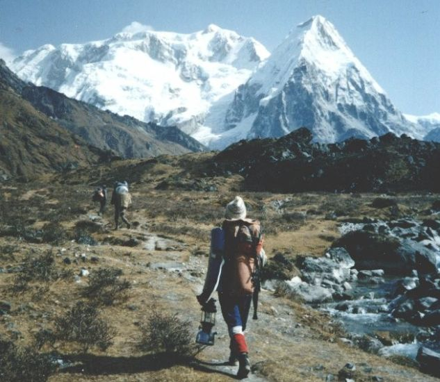An account and photographs of a trek in the Nepal Himalaya to the Kangchenjunga Region visiting the Yalung Glacier and Oktang on the South Side and crossing the Sinian La high pass to reach the Ghunsa Khola Valley and Lhonak and the Kangchenjunga Glacier on the North Side.