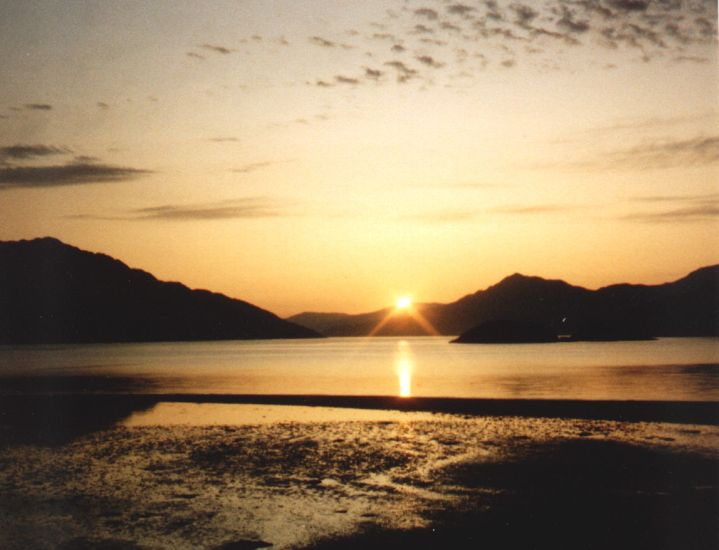 Sunset on Loch Hourn