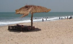 Brufut Beach in The Gambia, West Africa