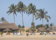 Kololi Beach in The Gambia, West Africa