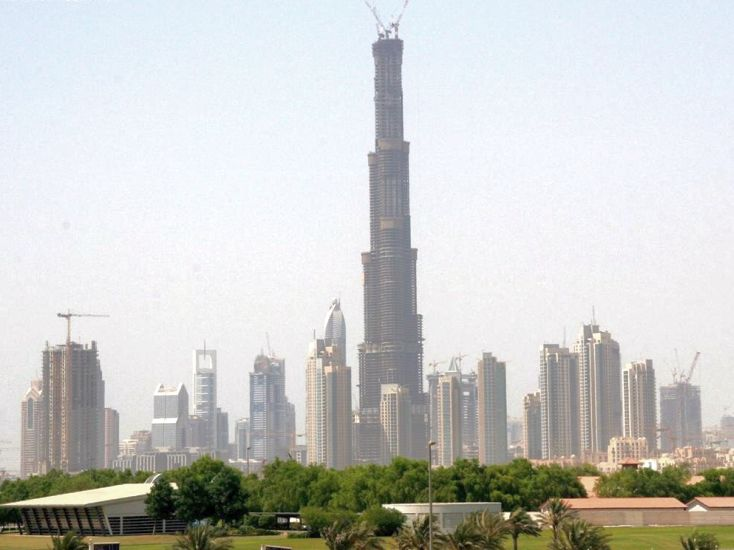Burj Dubai / Burj Khalifa under construction in United Arab Emirates ( UAE )