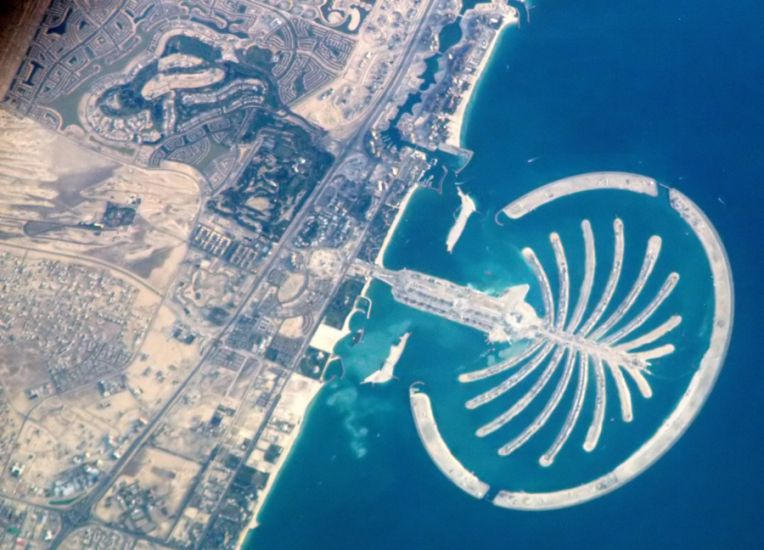 Palm Jumeirah ( The Palm Island Resort ) in Dubai, United Arab Emirates ( UAE )